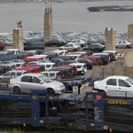 Autók érkeznek Konstanca kikötőjébe