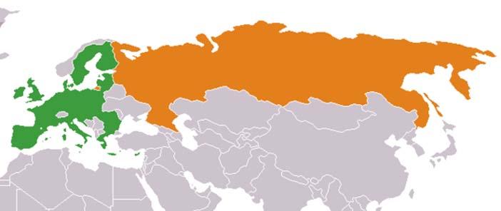 Oroszország EU logisztikai térkép