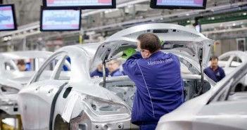 A Mercedes-Benz kecskeméti gyárának karosszériaüzeme