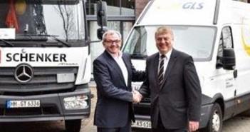 Ewald Kaiser, Head of Land Transport Schenker AG és az Európai régió vezérigazgatója, Rico Back, GLS Csoport vezérigazgatója