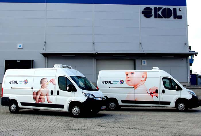 A gyógyszerlogisztikában jelentkező fuvarrendeléseket a már állományba vett, 7 speciális járműből álló flottával fogadják