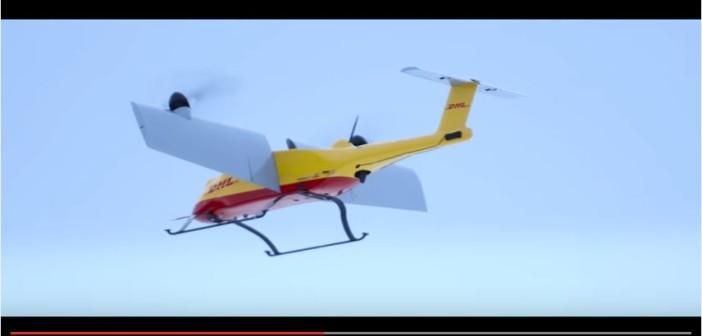 DHL Drón csomagküldés