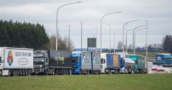 Belgium kamionos blokád