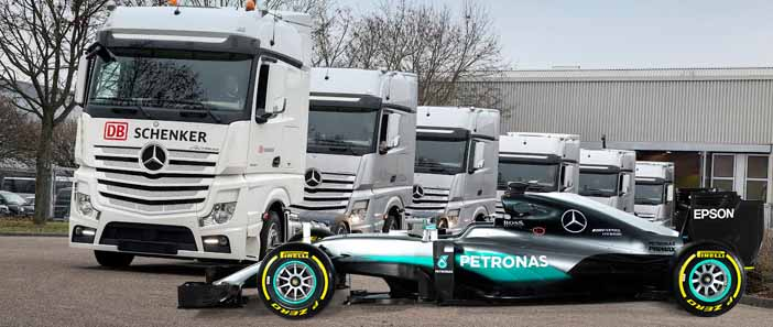 DB Schenker szállítja az Ezüst Nyilakat a Hungaroringre