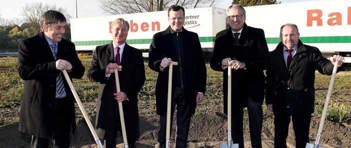 Raben: az új vállalati központ ünnepélyes alapkőletétele Mannheimben